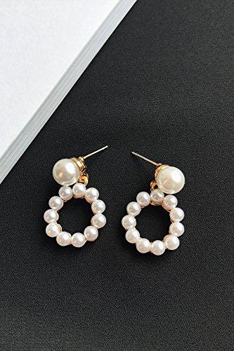 Unique Fashion Creative Jane Pearl River Delta Geometric Decoration Earrings earings Dangler Eardrop Women Girls Gift Woman Jewelry