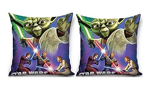 Star Wars Maxi & Mini Yoda 40 x 40 cm Cojín Ameublement Deco ...