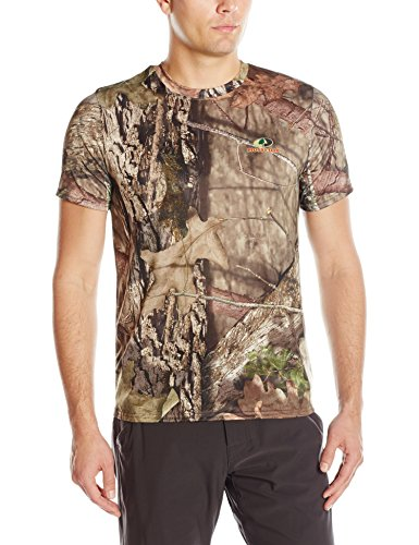 Mossy Oak Men's Short Sleeve Poly Camo Tee, Camouflage, X-Large