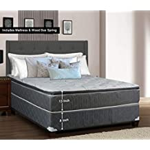 Greaton 9030v-5/0-2 Medim Plush Innerspring Pillowtop Mattress and Box Spring/Foundation Set, No Assembly Required, Queen, Size