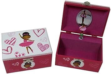 Caja Musical Decorativa de Madera Bailarina Corazon Cajas Multiusos y Joyeros. Juguetes y Juegos de Colección. Regalos Originales para Reyes y Navidad.