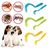Yangxiyan Tick Flea Removal Tool for Dogs, Cats,Tick Remover,Pain-Free Ticks Fleas Comb(2 Packs)