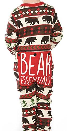 Red Bear Fair Isle Kids Flapjack Onsie Pajamas