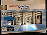 SYLVANIA 20016 CF13EL/SUPER/865/RP4/YX 60W = 13W 120V 800 Lumen 6500K CFL Bulbs 24 Pieces (6x4 Pack)