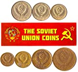 LOT of 100 USSR Soviet Russian KOPEKS Coins