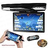 XTRONS 15.6 Inch 1080P Video HD Digital Widescreen Car Overhead Coach Caravan Roof Flip Down DVD Player Game Disc HDMI Port