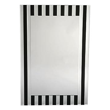 DUSX vénitien contemporain Miroir, verre, Noir, 3 x 60 x 90 cm ...