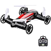 Syma X9S 2.4G 4CH 6-Axis RC Fly Car Nerf Quadcopter Mini Drone Air-Land Dual Headless Mode-Black