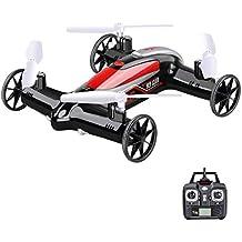 Syma X9S 2.4G 4CH 6-Axis RC Fly Car Nerf Quadcopter Mini Drone Air-Land Dual Headless Mode-Black