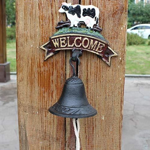 CXQ ヨーロピアンスタイルの庭ヴィンテージ装飾鋳鉄ドアベル牛錬鉄製のベルハンドベル