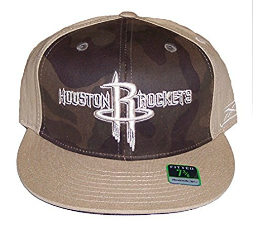 Houston Rockets Fitted Size 7 3 8 2 Tone Camouflage Hat Cap - Brown 0f9562d25387