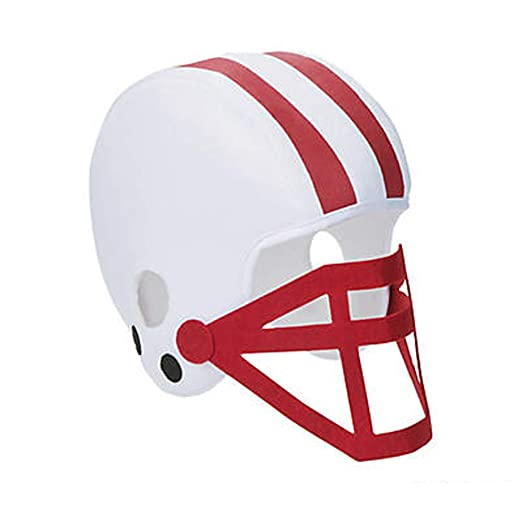 7d9317981aa Team Color Cheerleading Soft Football Helmet Sports Fan SPIRIT Hat (RED)