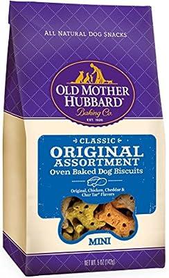 Old Mother Hubbard Classic Crunchy Natural Dog Treats, Original Assortment Mini Biscuits, 5-Ounce Bag from WellPet LLC