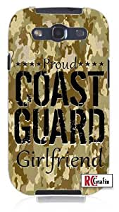 Cool Painting Proud Coast Guard Girlfriend Digital Camo Tan Camouflage Unique Quality Soft Rubber Case for Samsung Galaxy S4 I9500 - White Case