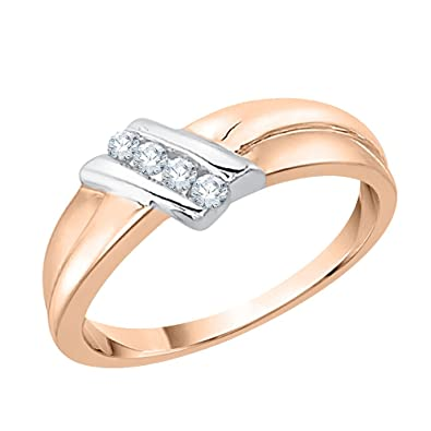 G-H,I2-I3 Size-6 Diamond Wedding Band in 10K Yellow Gold 1//10 cttw,