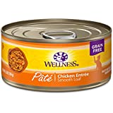 Wellness Natural Grain Free Wet Canned Cat Food, Chicken Pate, 5.5-Ounce Can (Pack of 24)