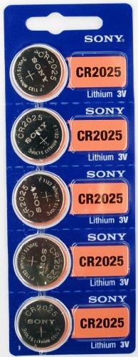 Sony CR2025 3V Lithium Battery, 10 Batteries