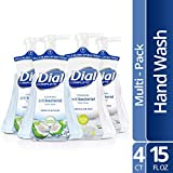 Dial Complete Antibacterial Foaming Hand Wash, Coconut Water/Soothing White Tea, 15 oz (Pack of 4)