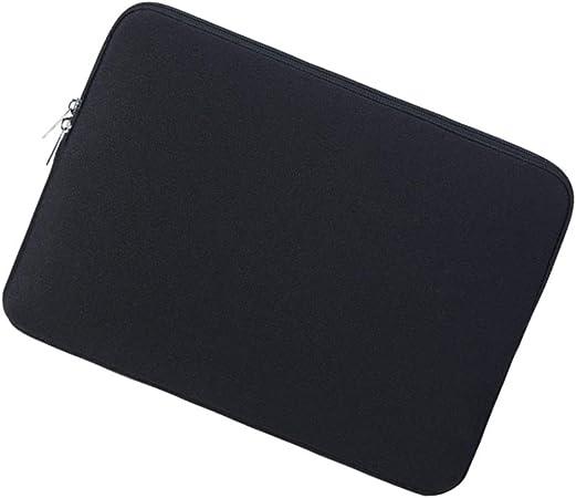 FLAMEER Laptop Notebook Computer Estuche Portátil Bolsa Bolsa 15 - Negro: Amazon.es: Hogar