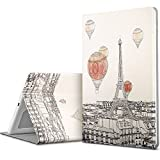 ESR iPad 9.7 2017 Case, Illustrator Artist Series Folio Case, Multi-Angle Stand, Smart Cover Auto Sleep/Wake Function, Compatible for Apple iPad 9.7-inch 2017 (Fascinating Paris)