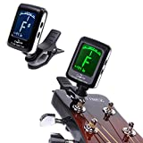 CGT JOYO Digital LCD Clip-on Tuner for Chromatic Guitar Bass Violin Tuner Rotatable Mini Clip Stringed musical instrument