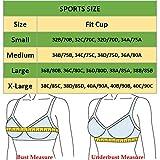 HOMETA Women Seamless Lace Sports Bras Cross Front