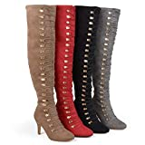 Brinley Co. Womens Regular and Wide Calf Vintage Almond Toe Over-The-Knee Boots