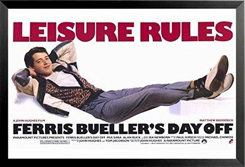 Matthew Broderick Leisure Rules Buyartforless Framed Ferris Buellers Day Off 24x36 Movie Art Print Poster