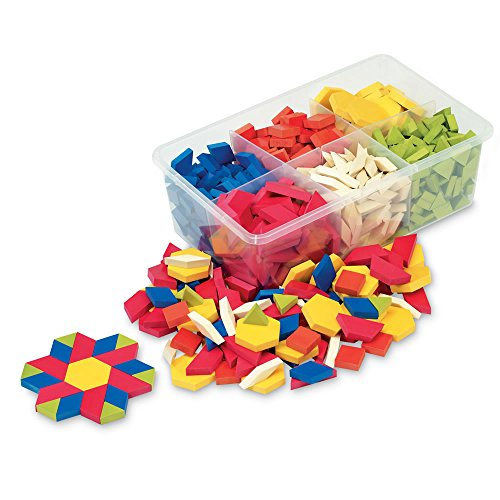 (hand2mind Plastic Pattern Blocks, Manipulatives for Geometric Exploration, Tangrams, and Puzzles (Set of 250))
