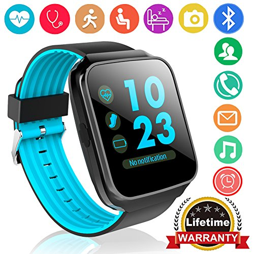 Qiwoo Fitness Tracker Smart Watch Phone with Blood Pressure Heart Rate Monitor for Women Men Kid 1.55