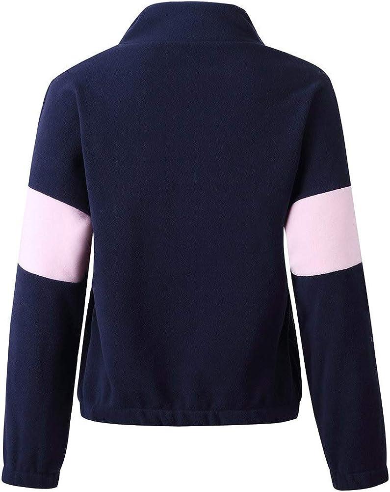 KOERIM Women Long Sleeve Half Zip Sweater Sherpa Fleece Pullover Fuzzy Hoodies Zipper Casual Warm Winter Loose Tops