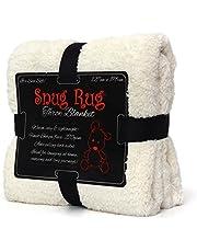 Snug Rug Véritable Couverture Chaude Throw Fleece Blanket Sherpa - Crème