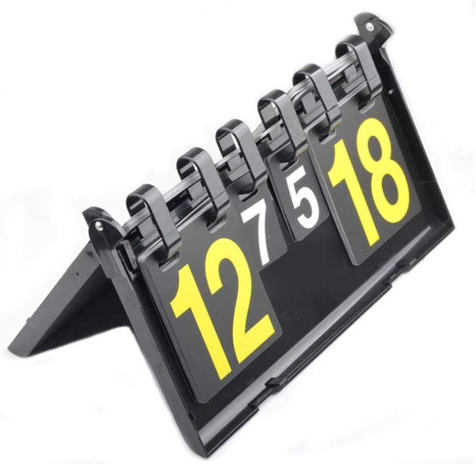 TARTIERY Tragbare Marker Tragbare Marker Tabelle 4 Ziffern wasserdichte Tischplatte Score Flipper F/ür Basketball Fu/ßball Tennis Badminton Flip Digits Sport Anzeigetafel