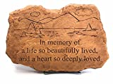 Kay Berry A Life So Beautifully Lived; Memorial Stone Sympathy Gift 10×15 Sandstone;With Stand For Sale