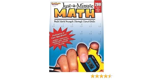 Just-a-Minute Math: Reproducible Grades 1-8: STECK-VAUGHN ...