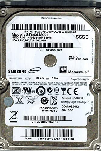 SAMSUNG MOMENTUS 640GB ST640LM001 INTERNAL HARD DRIVE NEW