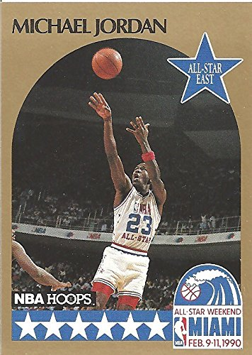 a236e2ca6fe Image Unavailable. Image not available for. Color  MICHAEL JORDAN NBA ALL  STAR GOLD COLLECTIBLE TRADING CARD - 1990 NBA HOOPS  5 (