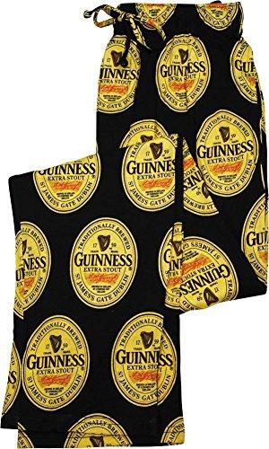 Guinness Mens Sleep Pajama Pants Bottoms Black Large
