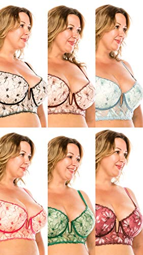 8da17078d35 Youmita Long Line Push Up Bra Deep V-Cut Plus Size (34D
