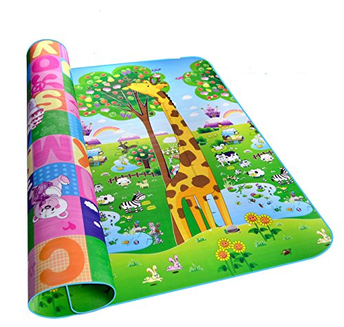 BW Moisture Proof Lager Thick Indoor Or Outdoor Lovely Baby Crawling Mat Play Game Pat