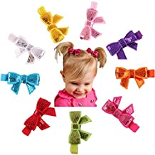 Changeshopping 9PC Child Babys Girls Sequins Bowknot Flower Hair Clip Photography