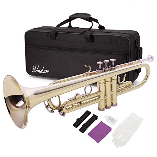 Windsor MI-1001 Student Bb Trumpet Outfit Including Case by Windsor