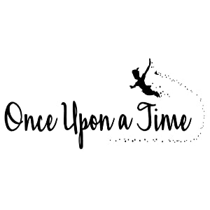 ZSSZ Once Upon a Time Nursery Wall Quotes Decals Vinyl Lettering for Kids Room Decoration Graphic Motto Art Letters