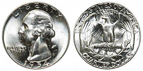 Bu Washington Quarter Roll (1954 P U.S. Silver Quarter High MS 1/4 Gem Brilliant Uncirculated)