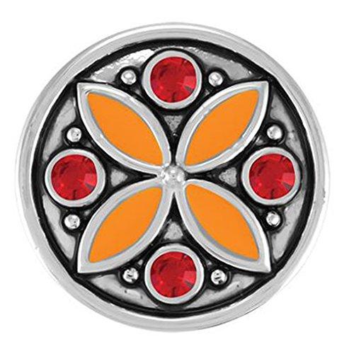 Ginger Snaps CARAVAN - ORANGE/RED SN05-43 Interchangeable Jewelry Snap - Ginger Snap Orange