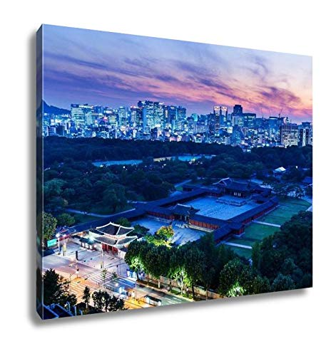 - Ashley Canvas Historical Grand Palace in Seoul City Wall Art Decor Stretched Gallery Wrap Giclee Print Ready to Hang Kitchen Living Room Home Office, 24x30
