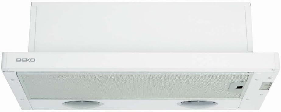 Beko CTB 6407 W Semintegrada (extraíble) Blanco 280m³/h - Campana (280 m³/h, Canalizado, 52 dB, 63 dB, Semintegrada (extraíble), Blanco): Amazon.es: Hogar