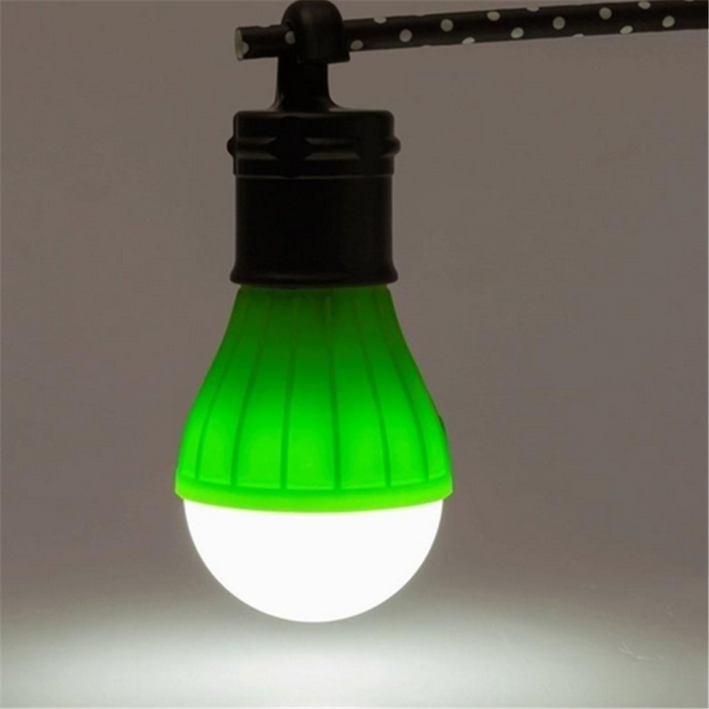 Outdoor Portable Hanging LED Camping Tent Light Bulb Fishing Lantern Lamp,Tuscom (Green)