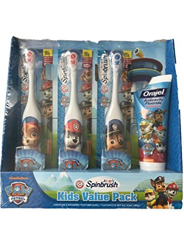 KIDS VALUE PACK PAW PATROL KIDS SPINBRUSH by Spinbrush