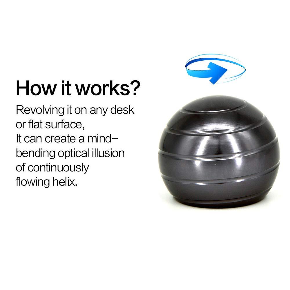 DWEKE Kinetic Desk Toy with Full Body Optical Illusion